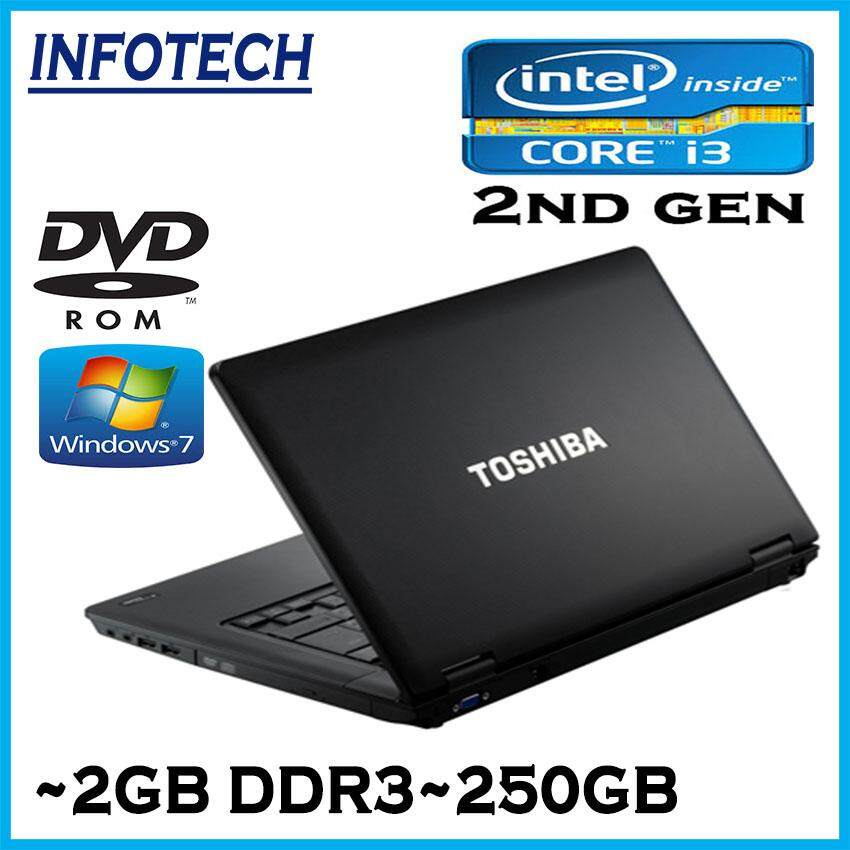 Toshiba Intel core i3 2310m 2ND GEN 2gb 250gb dynabook satellite LAPTOP NOTEBOOK (Refurbished Malaysia