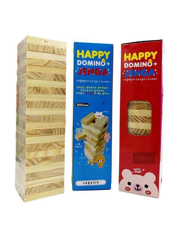 Happy Domino Jenga 3000 (69pcs) By Maslot.