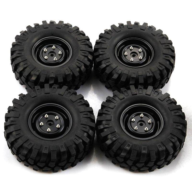 4pcs Rc Car 108mm Tires For 1/10 Rc Crawler 4wd Scx10 Cc01 1.9 Inch Wheels Parts By Audew.