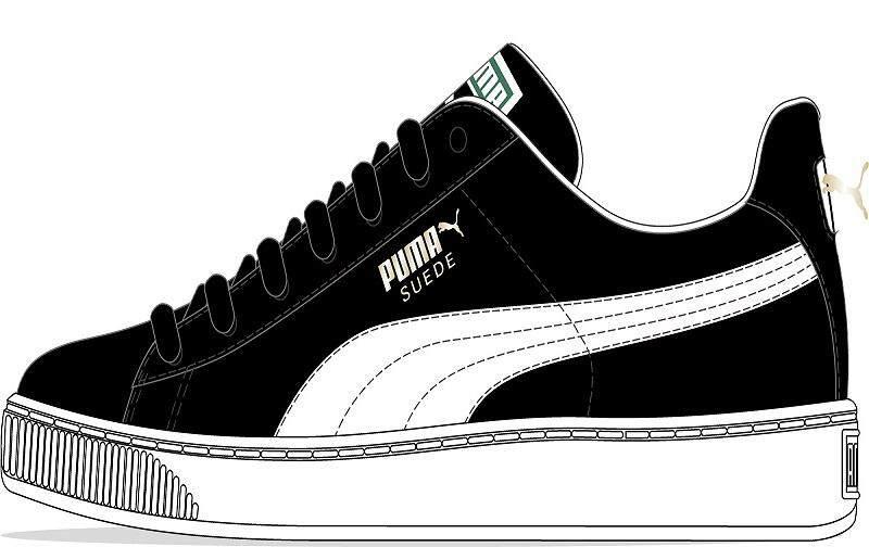 Membeli-belah dalam talian Puma Men Suede Classic Shoes (Black-White ... 976b15ee9