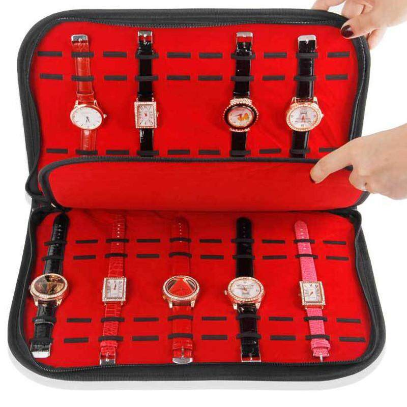High - grade 20 watch display tray collection bag watch collection of flannelette bag watch display case. Malaysia