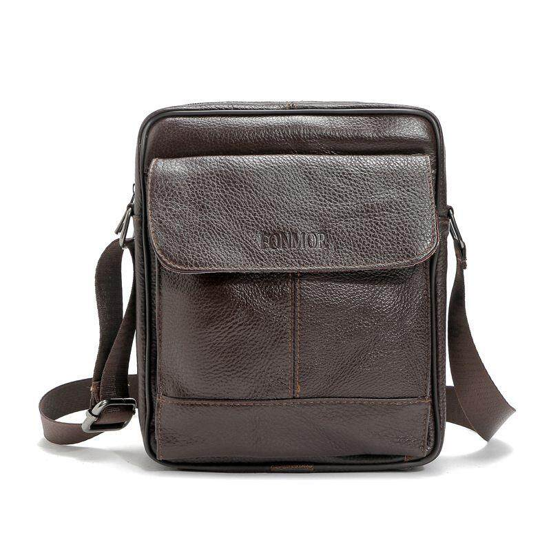 FONMOR Business Men Messenger Bags Shoulder Bag Briefcase (Dark Brown)