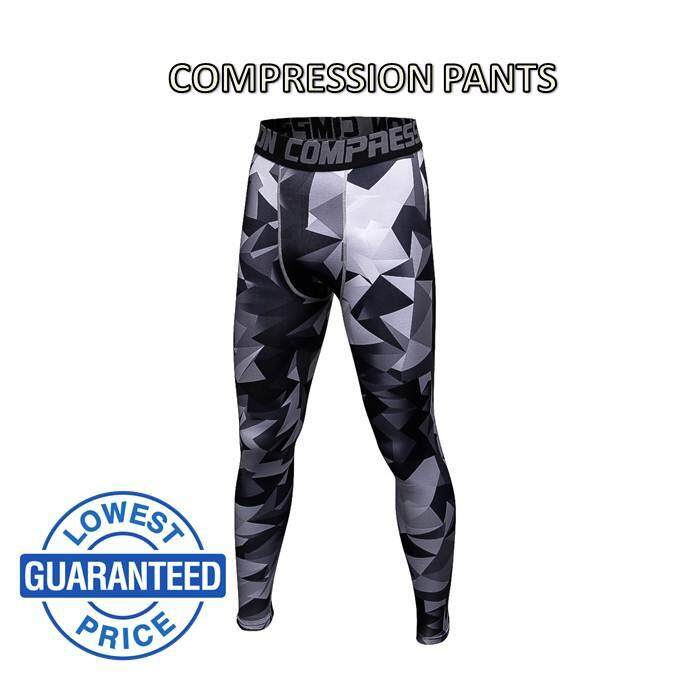 f4dc64c1288 *ready stock Compression pants men legging fitness running sport triangle  blacK