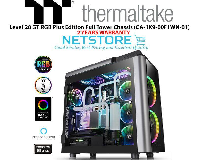 Thermaltake Level 20 GT RGB Plus Edition TG Tempered Glass Full Tower Chassis CA-1K9-00F1WN-01 Malaysia