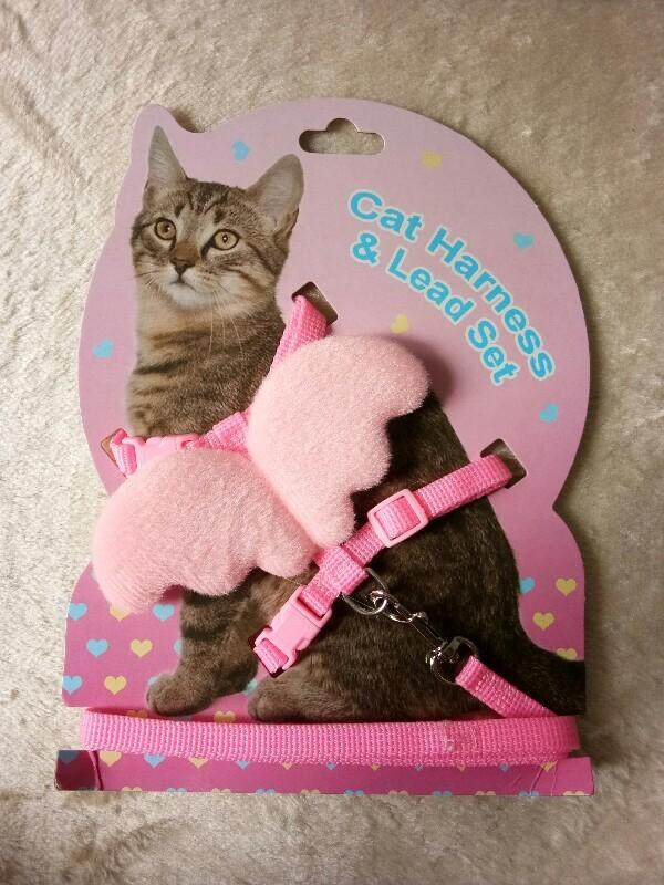 Pink Angel Cat Harness (h-Design) By Neet Neko Pet Shop.
