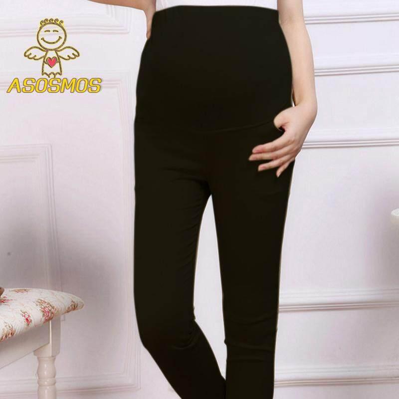 69034e58bee Asm Maternity Abdominal Pants Woven Cotton Pencil Pants Leggings Spring  Autumn Pregnant Women Trousers By Asosmos