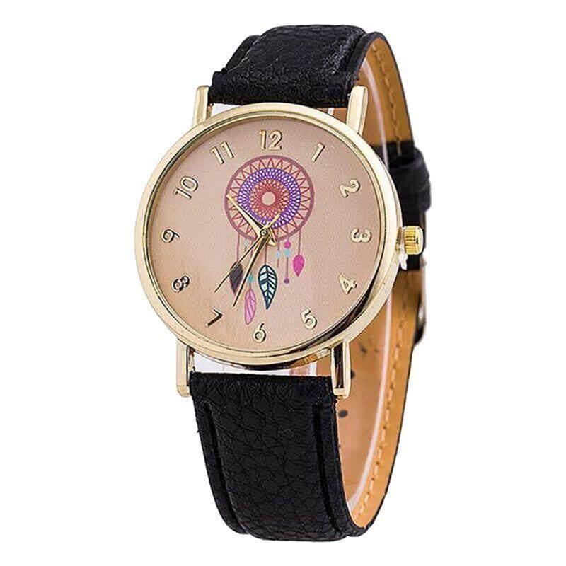 Womens Fashion Single Pointer Watch Dream Catcher Womens Watch Quartz Womens Watches Black Malaysia