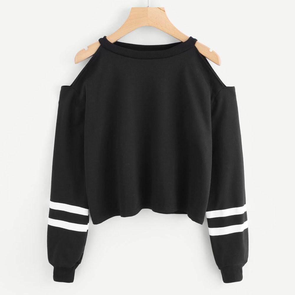 Ld Women Off Shoulder Long Sleeve Blouse Sweatshirt Pullover Casual Tops Shirt By Ldfashionshop.