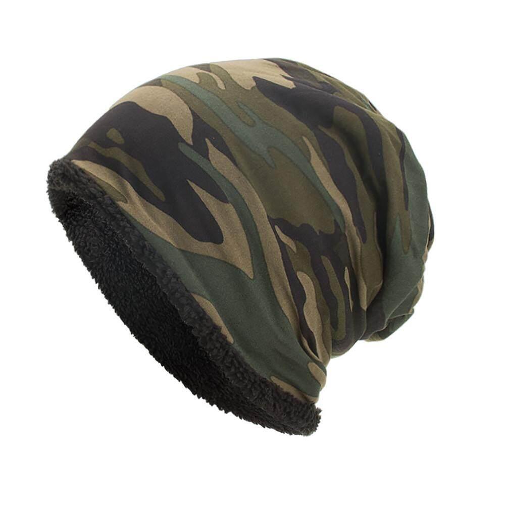 9b4e8a41 Women Men Warm Baggy Camouflage Crochet Winter Wool Ski Beanie Skull Caps  Hat Fashion