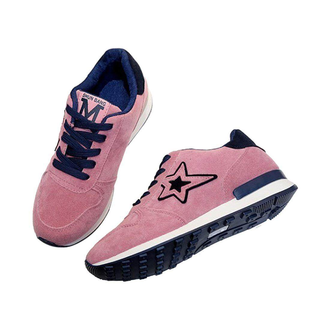 1 Pairs Of Pink Sports Shoes Five-Pointed Star Student Skid Shoes Breathable Leisure Travel Shoes Hiking Shoes Us8.5 = Eu39 Feet 245mm By Shakeshake.