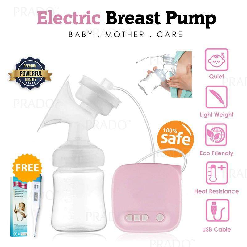 Prado Powerful Safe Single Electric Auto Breast Pump Wt Bottle Feeding Pam Susu By Prado Mall.