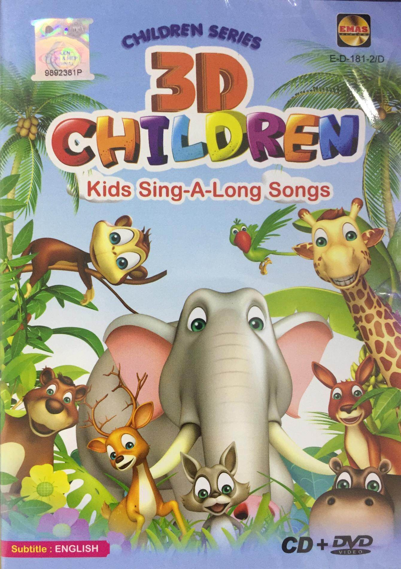 Music children buy music children at best price in malaysia 3d children kids sing a long songs cd dvd children songs fandeluxe Images
