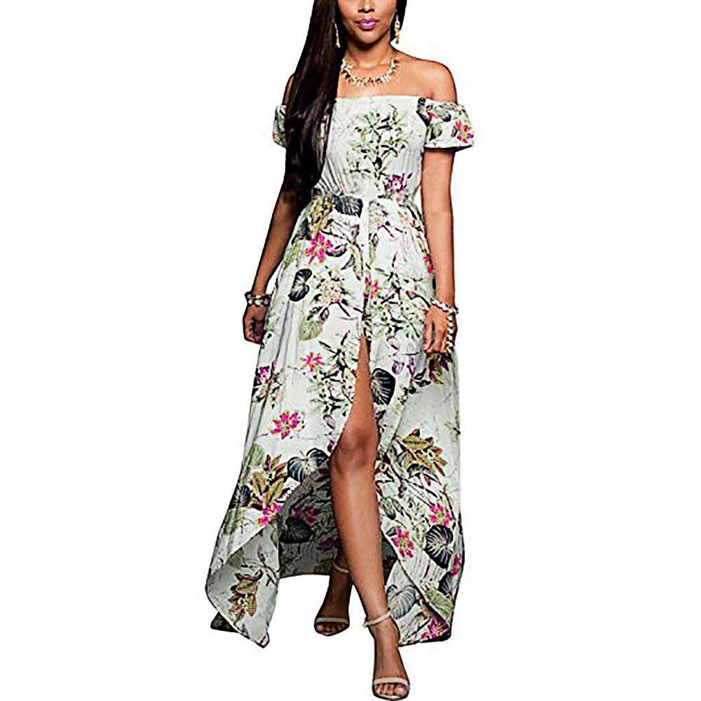 Jfashion Plaid Long Tunik Camelia Merah Oem Womens Dresses Price In Malaysia Best Genmoment Women Flowers Boho Maxi Evening Party Dress Beach Sundress Summer