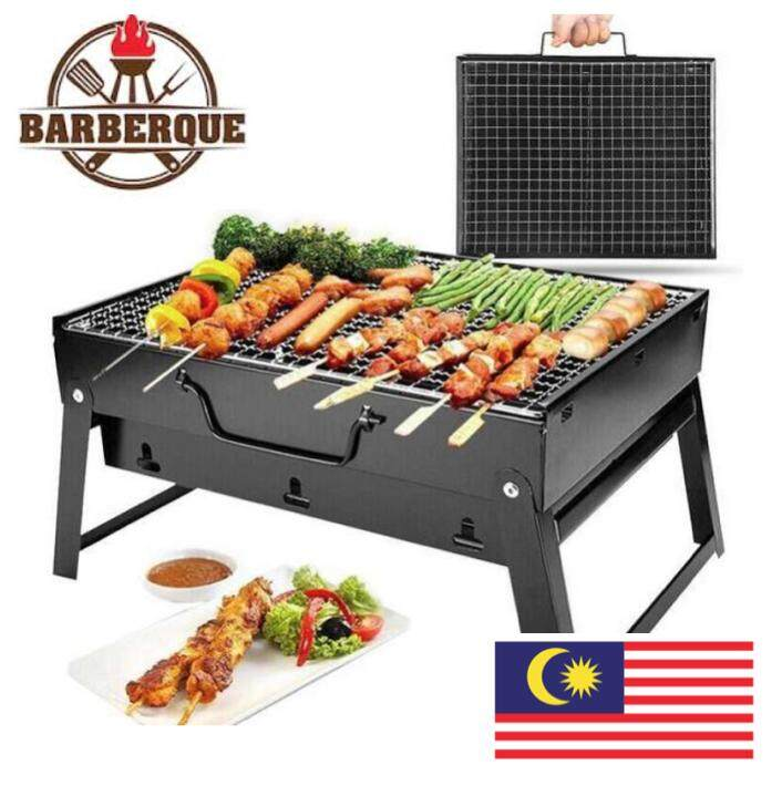 Outdoor Portable Folding Bbq Charcoal Grill Picnic For Barbecue Camping