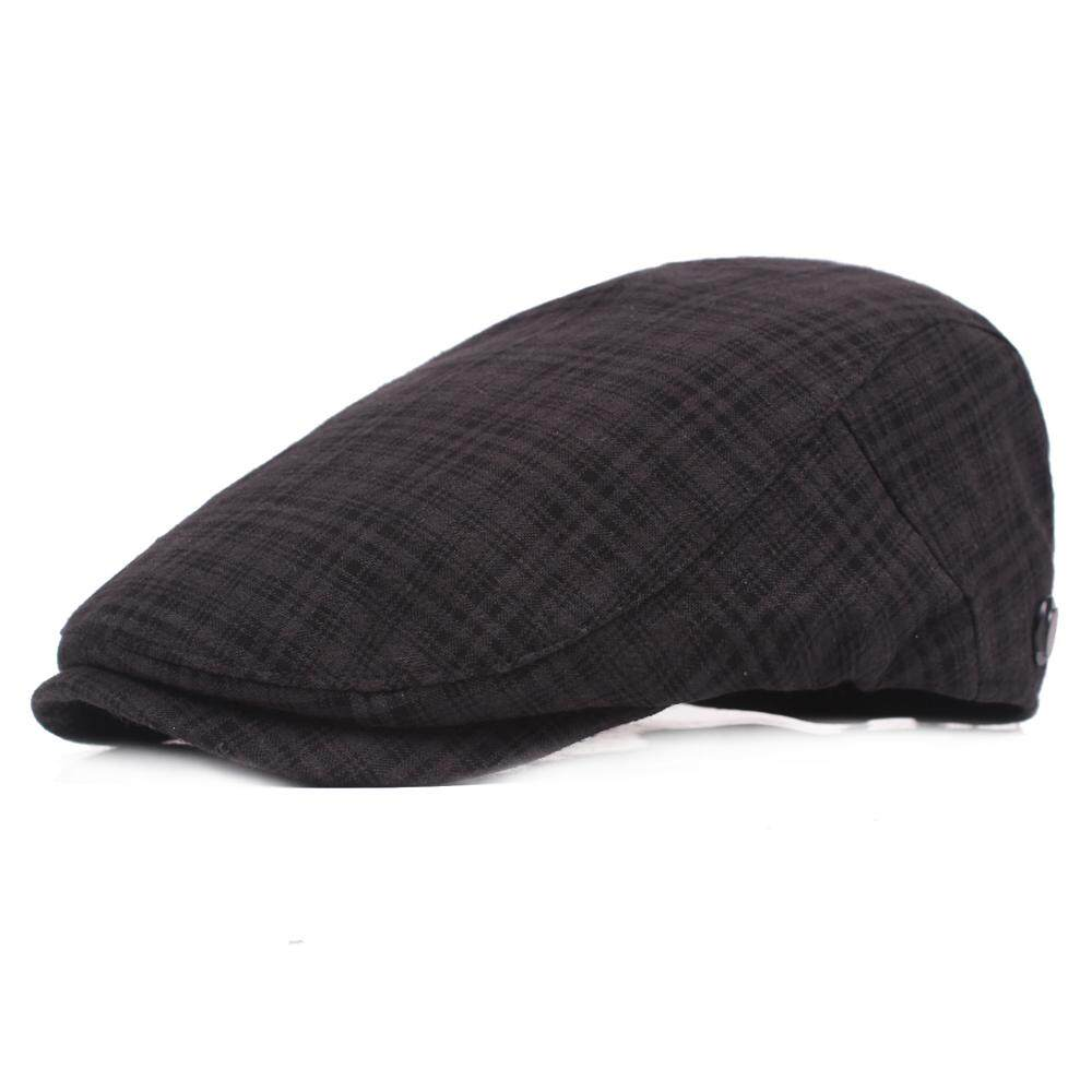 c863e4b6c3ac8 Mens Summer Vintage Stripe Cotton Beret Hat Casual Adjustable Breathable  Newsboy Cabbie Cap
