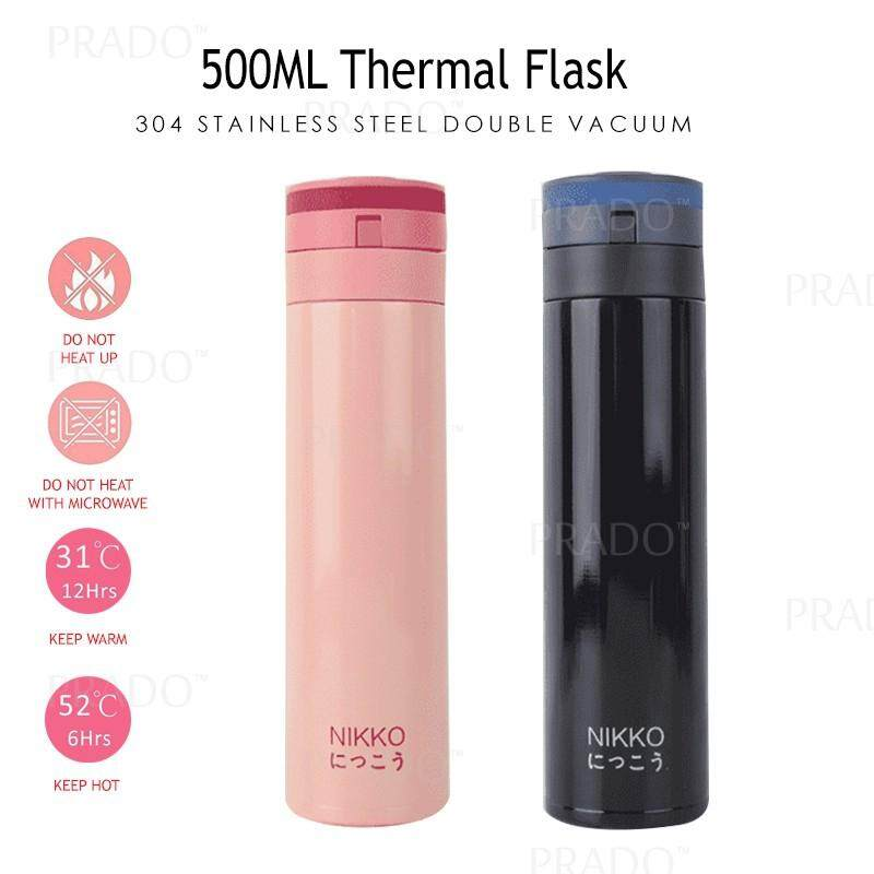 PRADO Malaysia Double 304 Stainless Steel 450ML Thermo Water Bottle Thermal  Flask Vacuum 007 Thermos Tumbler