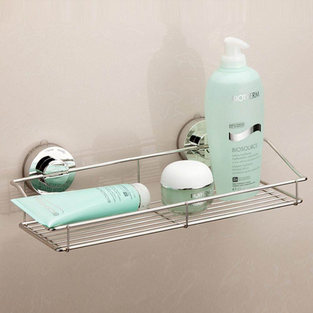 Bathroom Sucker Shelf Shower Caddy Container Holder Vacuum Lock Strong Suction for Kitchen Bathroom Use