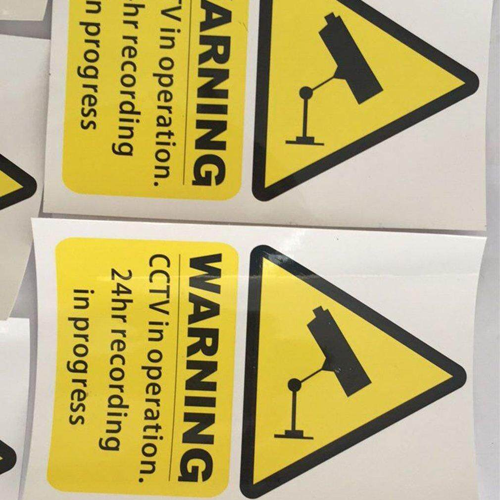 Best Sellers 5pcs CCTV camera stickers warning signs decals 150mm x 100mm  Free 1st class