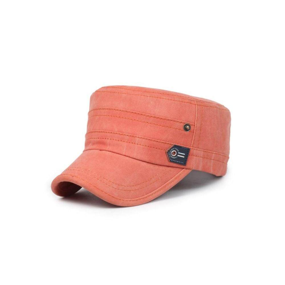 4bb486d6e16 4GL Outdoor Travel Army Flat Hats Retro Washed Baseball Cap Snapback