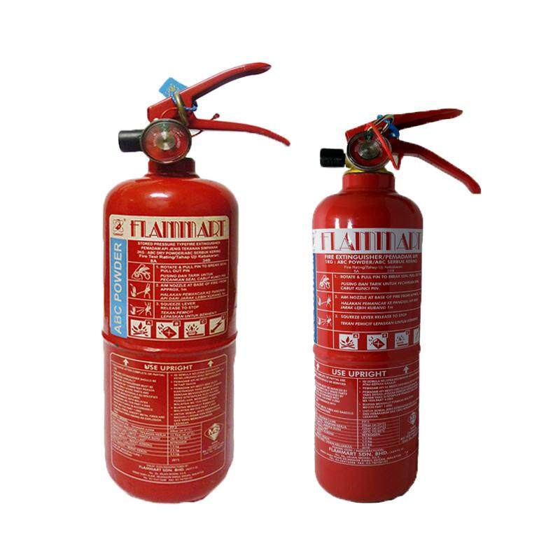 EzSpace Flammart 1kg + 2kg ABC Dry Powder Fire Extinguisher ( SIRIM ) for vehicles and household