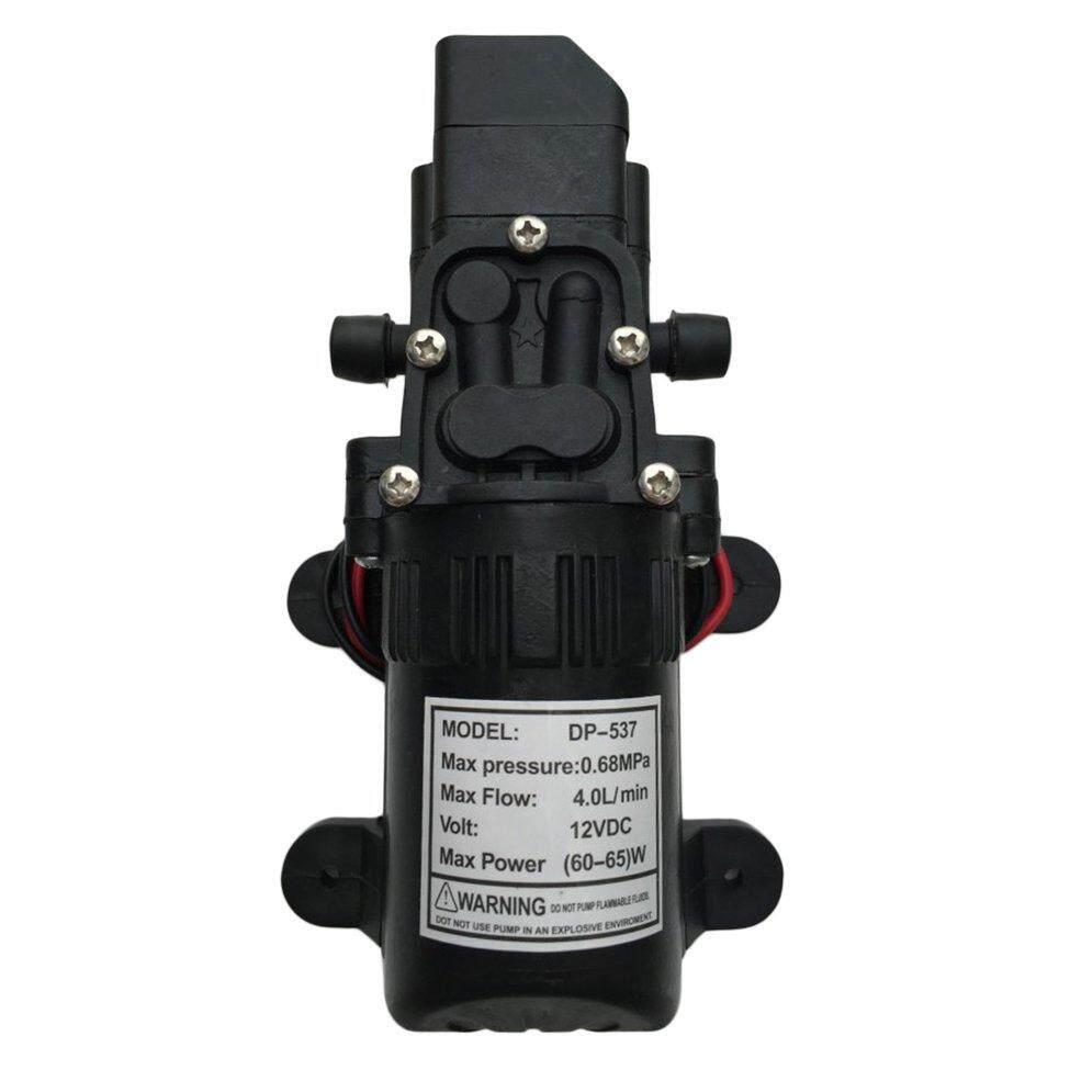 Detail produk dari Oh DC12V 130PSI 4L/Min Air Tinggi Tekanan Stabil Diafragma Pompa Cat Dasar Sendiri 70 W Hitam