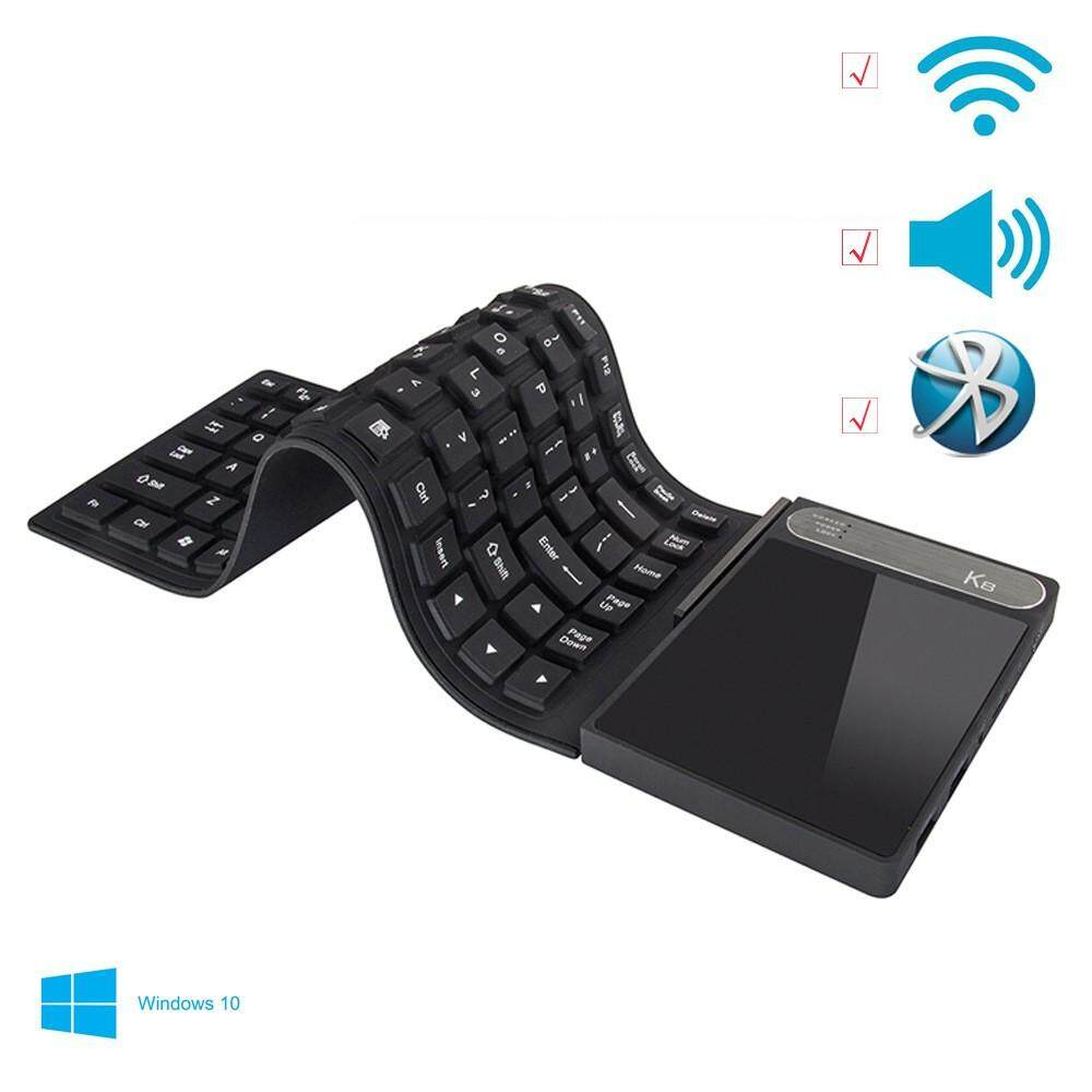 K8 Portable Mini Computer PC Laptop With Waterproof Keyboard, 4GB RAM, 64GB ROM, Windows 10 System Black Malaysia