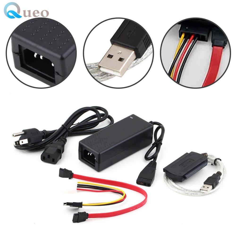 Queo USB 20 To IDE SATA S ATA 25 35 HD HDD Hard Drive Adapter