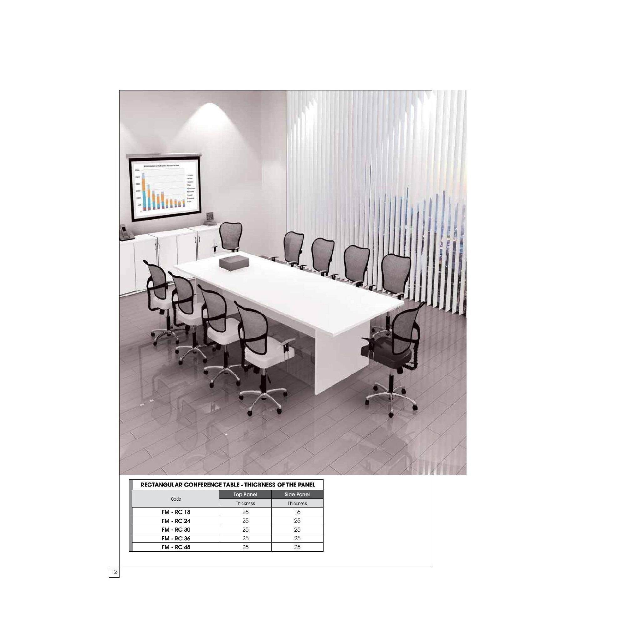 Picture of: Free Delivery Klang Valley Meeting Conference Table 10 X 4 Ft For 10 Person Lazada