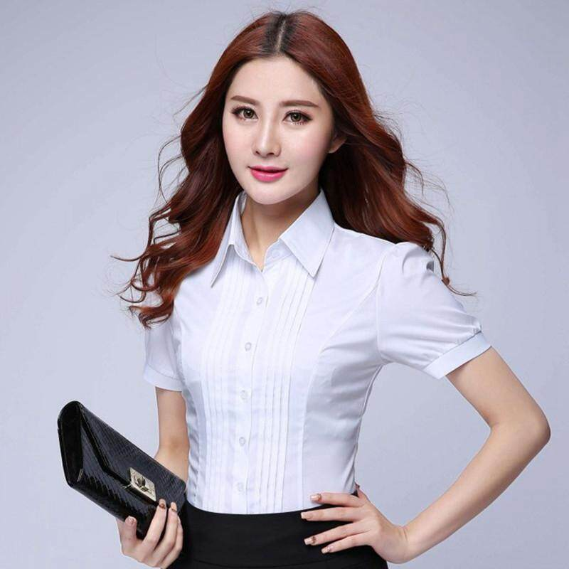 Fashion Formal Shirt Women Clothes 2018 New Slim White Sleeve Blouse Elegant Ol Office Ladies Work Wear Plus Size Tops By The First Store.