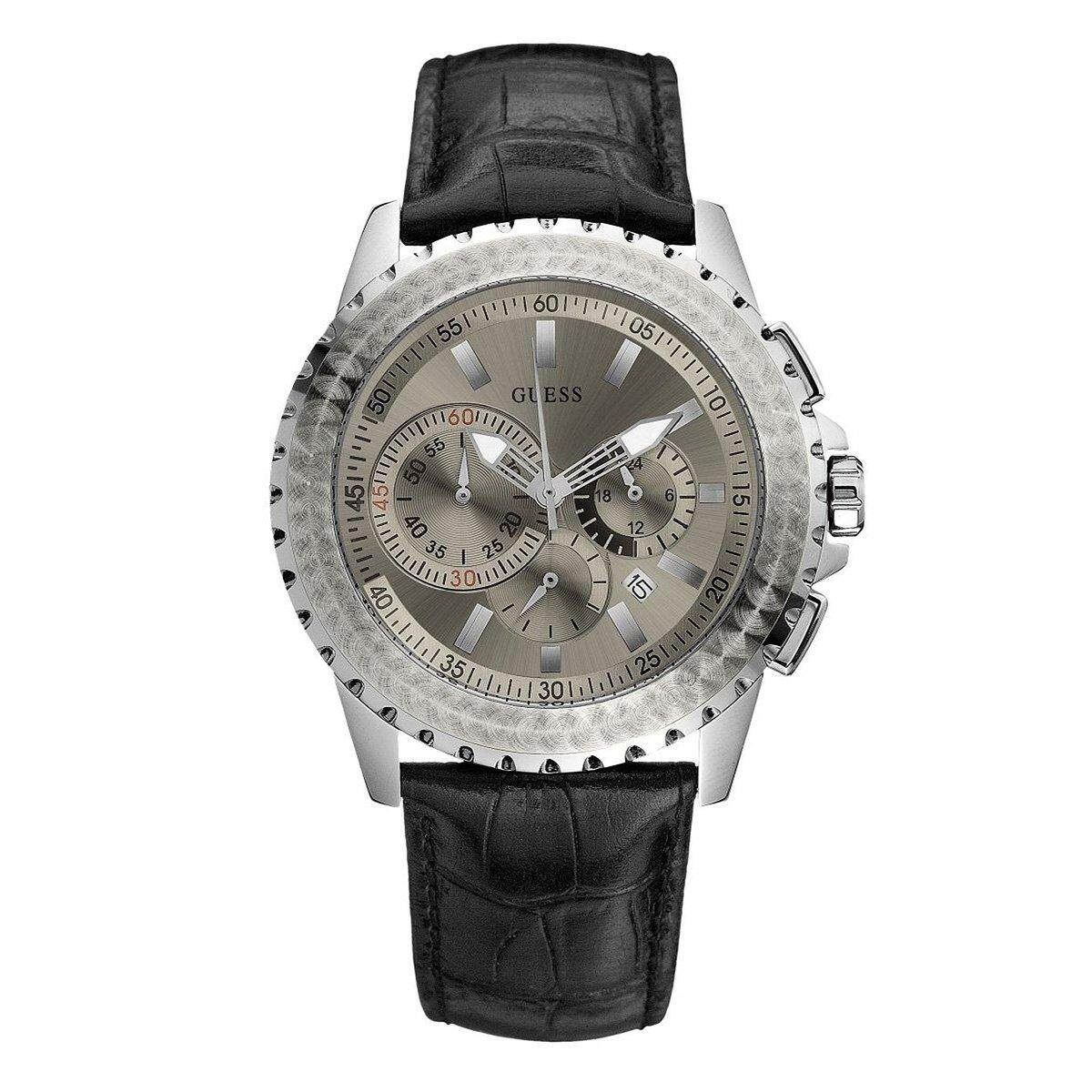 Guess Jam Tangan Wanita Strap Silver W0837l1 Update Daftar Harga W0764l1 Chronograph Black Stainless Steel Case Leather Mens W17523g1
