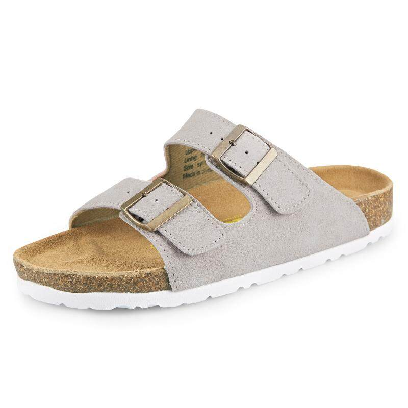 a3dac8354 2017 CORK British leather men s sandals and slippers flip-flops Cork slippers  large size beach
