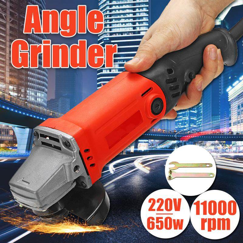 650W 220V 50Hz 0-11000RPM Electric Angle Grinder Grinding Tool For Polishing