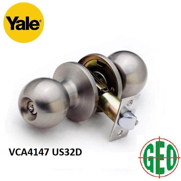 YALE STAINLESS STEEL CYLINDRICAL KNOBSET ENTRANCE FUNCTION VCA4147/US32D
