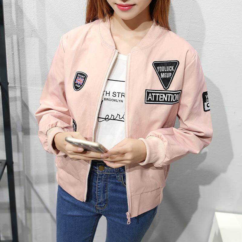New Ladies Baseball Uniform, Fashion Long-Sleeved Casual Jacket (send Gift) By Fashion Nvstore.