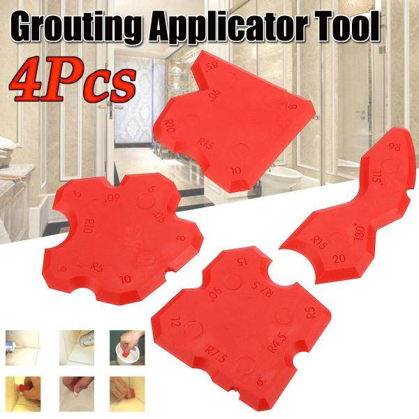 4pcs Silicone Sealant Spreader Profile Applicator Tile Grout Tool Home Help Gift -