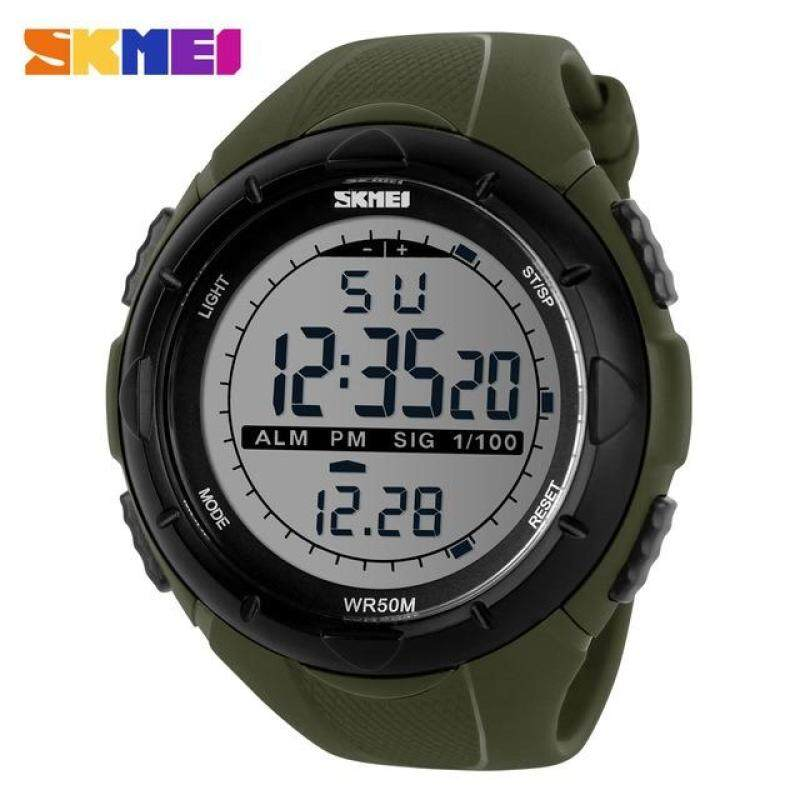 SKMEI 1025 Mens Sports Military Outdoor Watch LED Big Dial Digital Watch Malaysia