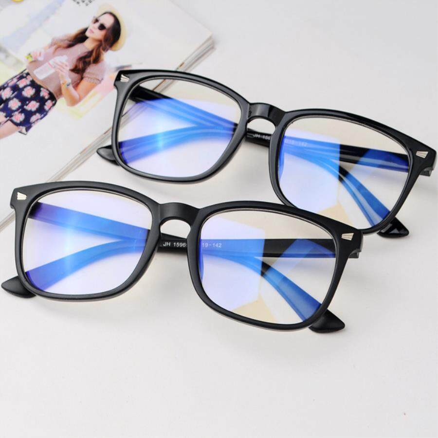 38d1f9fea0a 2018 New Anti Blue Light Glasses Plain Mirror Thin Face Large Frame Metal  Spectacle Frame Spectacle