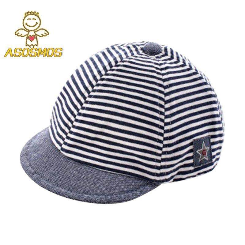 4956e488743 ASM Baby Boy Girl Autumn Hats Children Baseball Caps Peaked Beret Hat  Lovely Stripe Cap