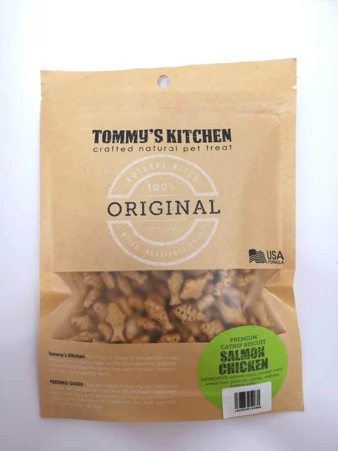 Tommys Kitchen Premium Catnip Biscuit 100g (seafood) By O Tokuda Enterprise.