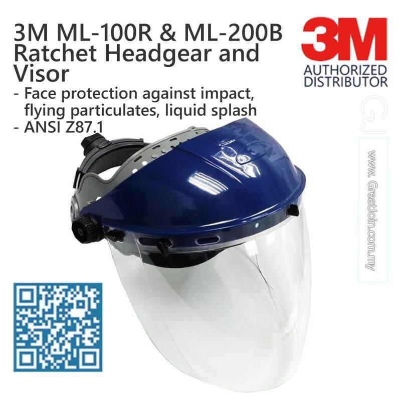 3M ML-100R Ratchet Headgear with ML-200B Visor [2 Pieces/Set]