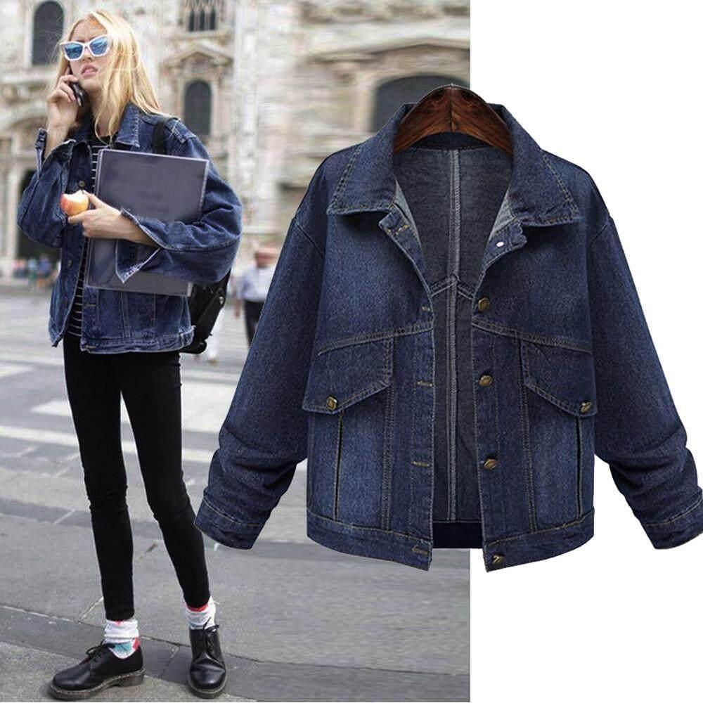Womens Denim Jackets Buy At Best Price In Jaket Wanita Jeans Levis Erpstore Fashion Women Plus Size Long Sleeve Tops Outcoat Pockets Jean Outwear