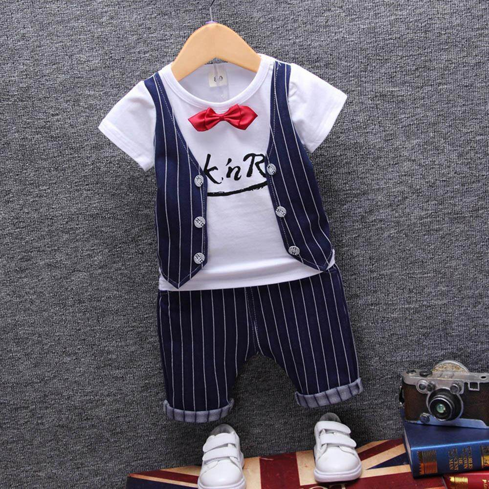 Infant Toddler Kids Baby Boy Fashion T-Shirt Tops+pants Outfits Clothes By Bairdstore.