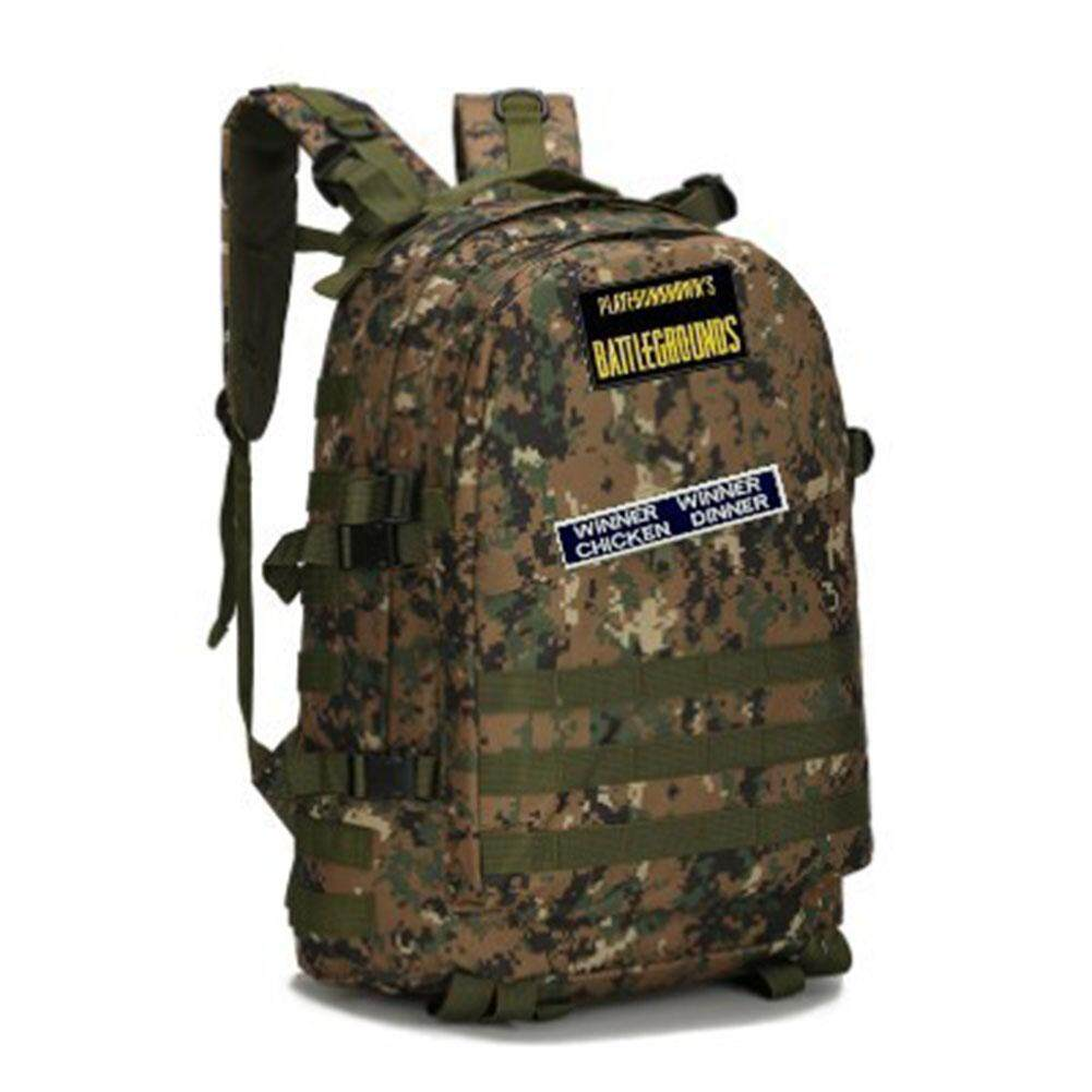 Veecome 16 Inch Playerunknowns Battle Grounds Pubg Winner Chicken Dinner Level1-3 Backpack Canvas Backpack By Veecome.