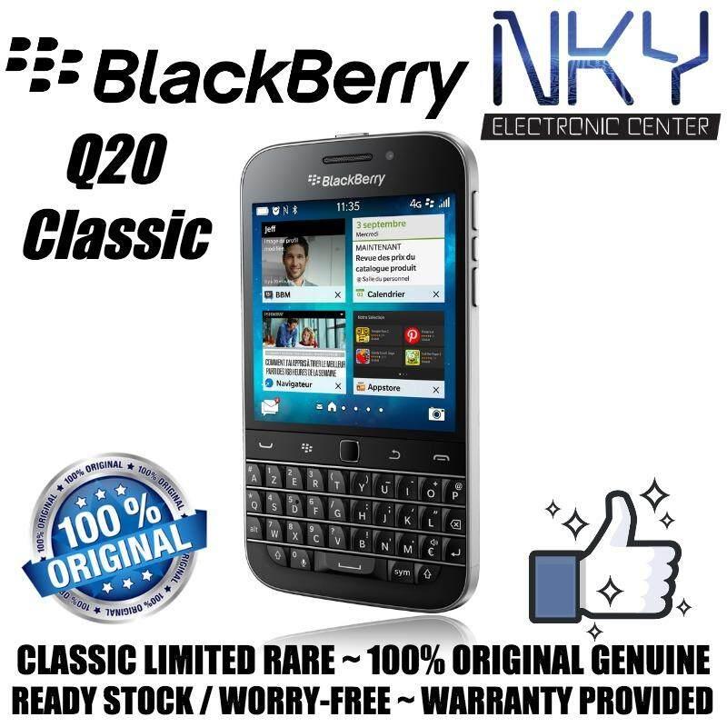 (Original Genuine) BlackBerry Classic Q20 16GB + 2GB RAM (Black) (Classic  Limited Rare)