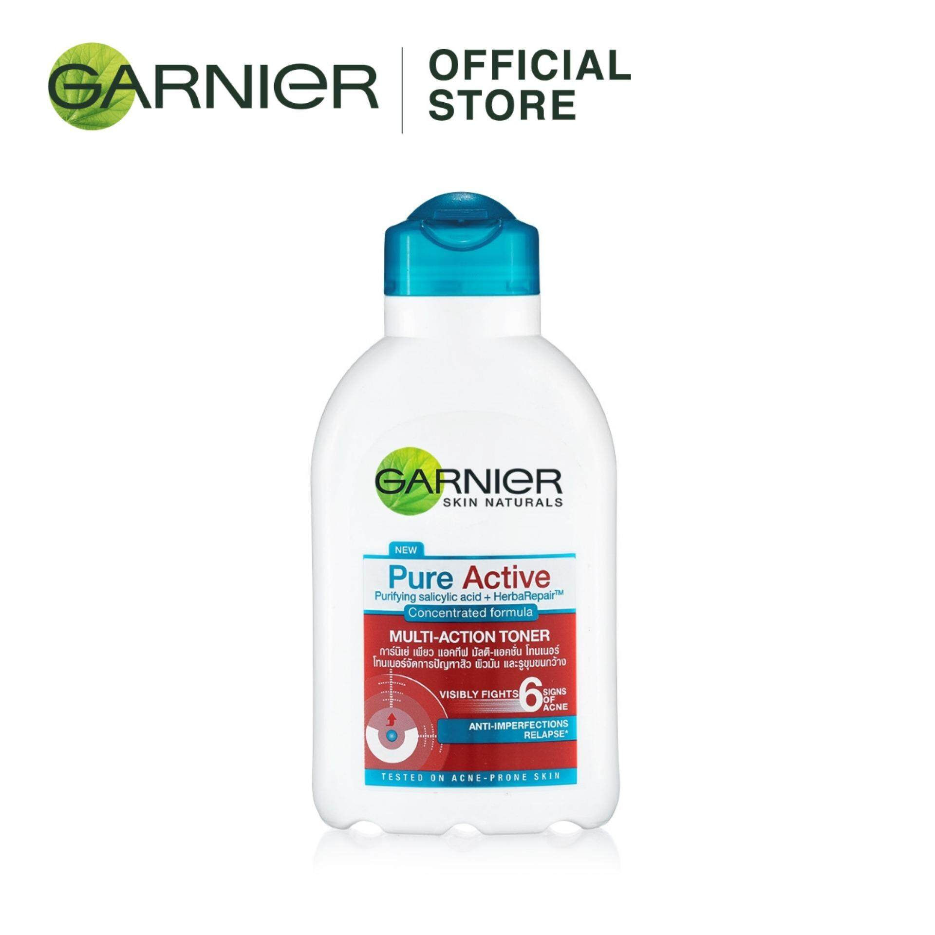 Garnier Products For The Best Price In Malaysia Pure Active Acne Oil Clearing 100ml Multi Action Toner 150ml