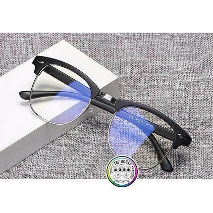 c215832837 Malaysia. ANTI BLUE RAY Style Retro Half Frame Korean Eye Glasses Spec Men  Women Eyewear