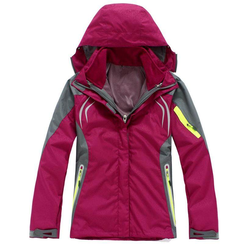Female Snowboard Jacket Windbreaker 2-Layer hiking Outerwear Waterproof Ski  Suit Sport Coat Clothes Jackets 54c528deef