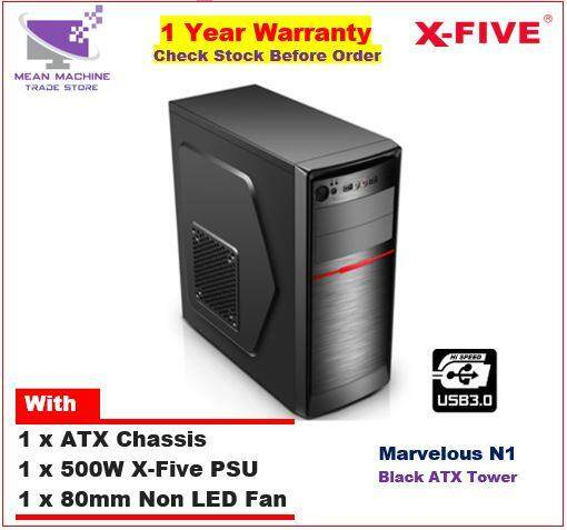 #X-Five Marvelous N1 ATX Chassis (PSU + 8cm Fan Included)# Malaysia