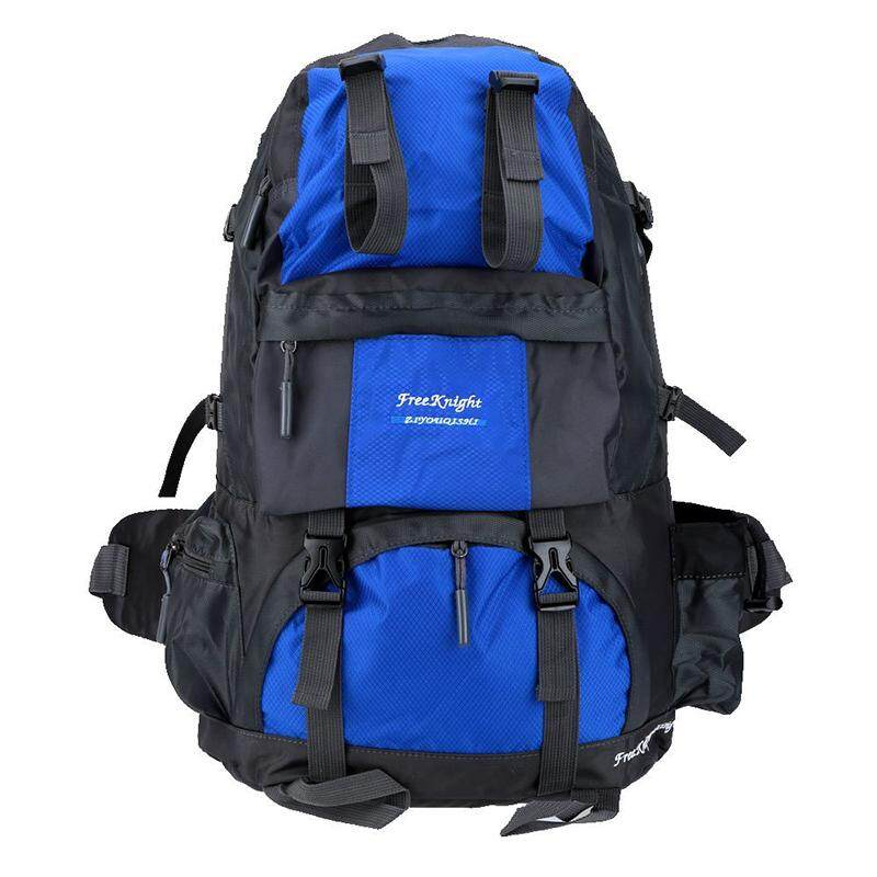 Free Knight 50l Outdoor Sport Backpack Hiking Trekking Bag Camping Travel Pack Mountaineering Climbing Knapsack (blue) By Lapurer.