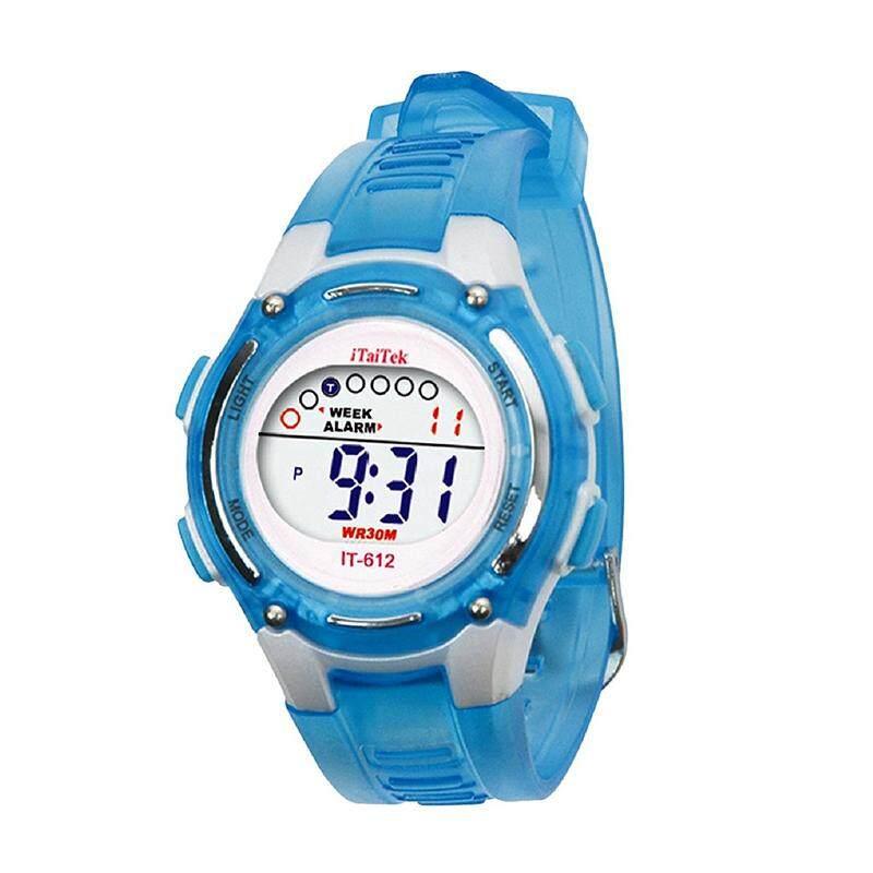 ITaiTek Kids Swimming Digital Sports Waterproof Wrist Watch (Blue) Malaysia